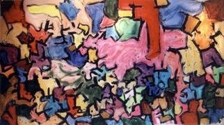 Richard Lazzara, 'story puzzle', 1992, original Painting Acrylic, 121 x 66  x 3 inches. Artwork description: 2703 story puzzle by Richard Lazzara is from the