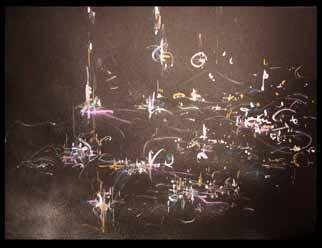 Richard Lazzara, Baba window of light, 1984, Original Calligraphy, size_width{the_same_old_house-1084805781.jpg} X 19 inches