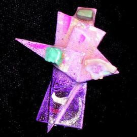 Richard Lazzara, , , Original Sculpture Mixed, size_width{three_stones_pin_ornament-1136160428.jpg} X 2 inches