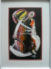 Artist: Jean Charles Duffaut's, title: double bass, 2001, Painting Acrylic