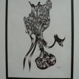 Artist: Jean Charles Duffaut, title: Octopus, 2005, Original Drawing Pen