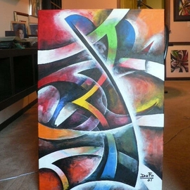 Artist: Jean Charles Duffaut, title: Sound of colors, 2007, Original Painting Acrylic