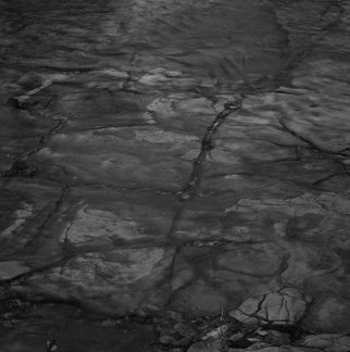 Steven Brown; River Bed, 2011, Original Photography Black and White, 16 x 16 inches. Artwork description: 241   water, black & white, nature, fine art, fine art photography, reductivism, minimilism    ...