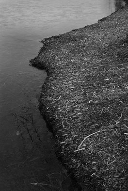 Steven Brown; The Edge Of The Water, 2013, Original Photography Black and White, 16 x 16 inches. Artwork description: 241    water, black & white, nature, fine art, fine art photography, reductivism, minimilism     ...