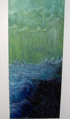 Sheana Benoit; Waves Of Saddness, 2007, Original Painting Oil, 1 x 2 feet. Artwork description: 241  emotions are heavy, like the weight of the oceans waters. . . tides rolling in and out. . . sadness echoes ...