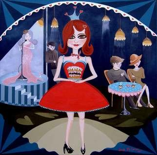 Sheila Mccarron; Queen Of Tarts, 2010, Original Painting Acrylic, 50 x 50 cm. Artwork description: 241     Acrylic on Canvas   ...