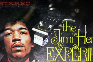 Shelley Catlin; Jimi Hendrix, The Experience, 2014, Original Photography Digital, 30 x 20 inches. Artwork description: 241  Jimi Hendrix, The Experience, Vinyl artwork, Denon, double exposure, rock n' roll 1970' s ...