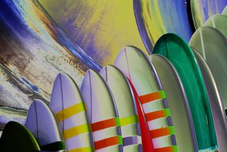 Shelley Catlin; Surfboards for sale, 2014, Original Photography Digital, 50 x 40 inches. Artwork description: 241   California surfboards, vibrant colors, beach    ...