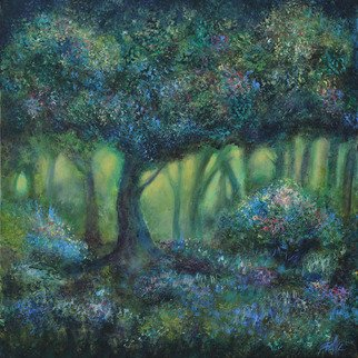 Shelly Leitheiser; Hidden Garden, 2015, Original Painting Acrylic, 24 x 24 inches. Artwork description: 241  This is an impressionist landscape, done in greens and violets and various natural colors. Painted in 2015, it is 24 x 24 unframed on a gallery wrapped canvas. This painting is sold but you can still get prints made of it. Contact me for more information....