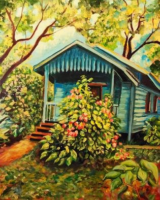 Shelly Leitheiser; Midas Cabana, 2013, Original Painting Acrylic, 16 x 20 inches. Artwork description: 241  This cabana is located in a tropical paradise in western Belize. The painting expresses the beauty of this Caribbean area and the vibrancy of the area. This painting is no longer available but you can still get prints of it. Contact me for information on that....