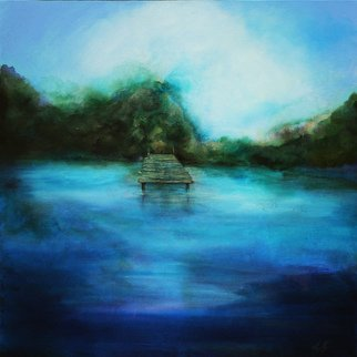 Shelly Leitheiser; The Dock, 2015, Original Painting Acrylic, 24 x 24 inches. Artwork description: 241 This is an impressionist landscape, done in greens and blues, and various natural colors. Painted in 2015, it is 24 x 24 unframed on a gallery wrapped canvas. The subject is a lake with a dock, with trees behind it. Its done in an impressionist style and ...