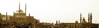 Sherif Karas; Old Cairo, 2006, Original Photography Cibachrome, 70 x 20 cm. Artwork description: 241  One shot of a panoramic view on the old city of Cairo, ( The capital of Egypt) .This citadel that appears on the  left background was for an ancient  Othmanian rular named Salah El Dien who ruled Egypt for a long time.The whole scene in the foreground ...