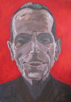 Dan Shiloh; Museum Guard Israel, 2016, Original Painting Oil, 70 x 100 cm. Artwork description: 241 While visiting a museum in Israel I asaw a guard with intriguing face and decided to paint him. ...