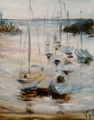 Veronica Shimanovskaya; Rockport 2, 2011, Original Painting Oil, 12 x 14 inches.