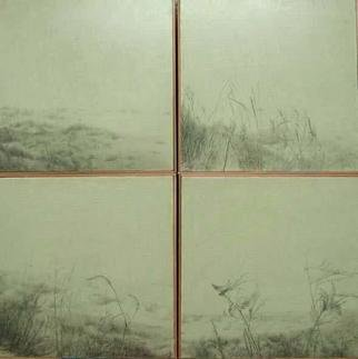 Shin-Hye Park; Landscape, 2004, Original Drawing Pencil, 80 x 80 cm.