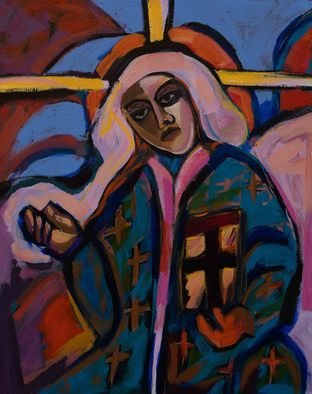 Shirin Moayya; Nun, 2019, Original Painting Acrylic, 80 x 100 cm. Artwork description: 241 Painting, Acrylicon Canvas...