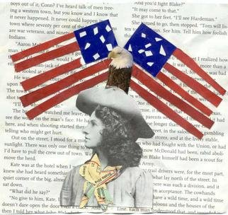 Shmuela Padnos, Annie Oakly American Girl, 2001, Original Collage, size_width{Annie_Oakly_American_Girl-996902157.jpg} X 5 inches