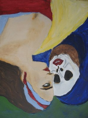 Shmuela Padnos; Gypsie And Dead, 2007, Original Painting Oil, 12 x 24 inches.
