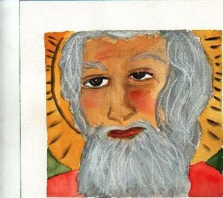 Shmuela Padnos; Saint Shmuel Orlean, 2006, Original Watercolor, 1 x 8 inches. Artwork description: 241 saint shmuel orlean please protect us from levee breaks pollution the poor the old the young of new orleans...