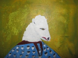Shmuela Padnos; White Buffalo Woman, 2007, Original Painting Oil, 12 x 24 inches. Artwork description: 241  the white buffalo woman in native american indian culture  ...