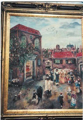 Shoshannah Brombacher, 'A Dutch Jewish Wedding', 2002, original Painting Oil, 24 x 30  x 1 cm. Artwork description: 1911 This is a painting in the old Dutch tradition of my native country. I admire the Masters of the 17th century, I lived in a house built in 1690 for a while, and from time to time I feel I want to paint in this style. The ...