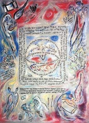 Shoshannah Brombacher, 'Breslov Tikkun', 2003, original Calligraphy, 18 x 24  cm. Artwork description: 1911 This is a sample of a Breslover Tikkun, of Rebbe Nachman of Breslov ( 10 Psalms which are said daily as a remedy for all kind of problems) . It is personalized and contains somebodys Hebrew name and other personal elements. I have made several tikkunim, and they are ...