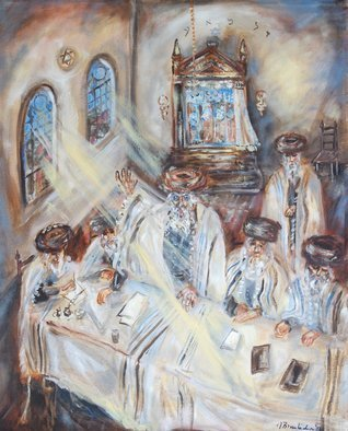Shoshannah Brombacher; trial of the shpoler zeide 1, 2017, Original Painting Oil, 16 x 20 inches. Artwork description: 241 I am illustrating a book about the Shpoler Zeide, a famous Chassidic Rebbe, by Dr. J. Paull and J. Briskman. There are many stories about the Shpoler Zayda  or: Zeide . I made pastel drawings and oil paintings. They will be included in the book, but the originals ...