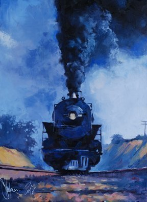 Igor Shulman; The Power Of Steam, 2019, Original Painting Oil, 23.5 x 31.4 inches. Artwork description: 241 This power literally turned civilization upside down. The age of steam is the time of progress and new life. This is the beginning of a new era. Just imagine how much power is in this locomotive. How much strength and energy in this gland. Let today s ...