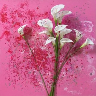 Shun Todoroki; Be in love, 2016, Original Painting Other, 72.7 x 72.7 cm. Artwork description: 241 artificial flower, acrylic, nail polish, pink...
