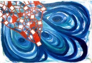 Adam Adamou; Netted Layers, 2003, Original Painting Acrylic, 660 x 457 mm.