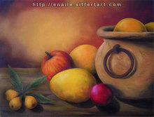 Artist: Enaile D. Siffert's, title: Still life, 2008, Painting Oil