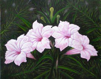 Sigit Sugiharto; Flower In Front Of My House, 2009, Original Painting Oil, 60 x 50 cm.