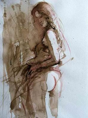 Sipos Lorand; Nude2, 2008, Original Watercolor, 21 x 29 cm.