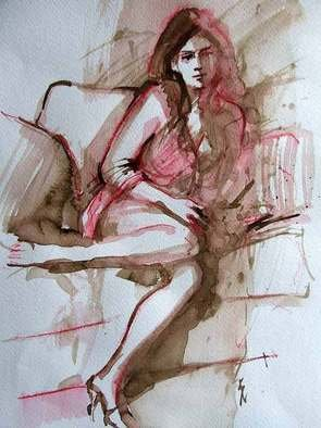 Sipos Lorand; Nude3, 2008, Original Watercolor, 21 x 29 cm.