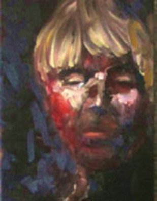 Sue Johnson; Self Portrait, 2011, Original Painting Oil, 11 x 14 inches. Artwork description: 241    f a patio and the light is continually changing.        All artists, at one time or another, are inspired to paint a portrait of themselves.  Here is one of mine.    ...