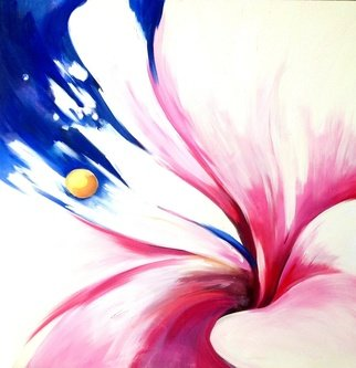 Barbara Brodele ; Abstraction, 2012, Original Painting Oil, 90 x 90 cm. Artwork description: 241   flowers  ...