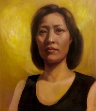Eun Yun; Self Portrait, 2016, Original Painting Oil, 16 x 20 inches.