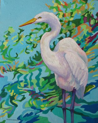 Sharon Nelsonbianco; Curious Birds AMELIA, 2014, Original Painting Acrylic, 16 x 20 inches. Artwork description: 241 contemporary art, acrylic painting, waterscape, birds, , nature, water, tranquility, peace, wildlife, , series format, Sharon Nelson- Bianco, southern artist, , colorful, colorist, Florida, water birds, expressionist, Florida artist, Florida, wildlife, water fowl, vivid, expressionism, wading birds          ...