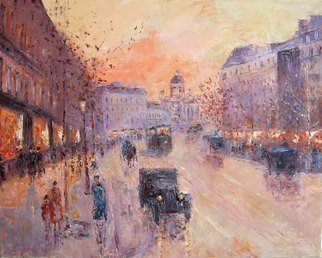 Slobodan Paunovic; Along The Boulevard  1930 Y, 2010, Original Painting Oil, 40 x 50 inches. Artwork description: 241  Original workBuying directly from the autorFree shipping...