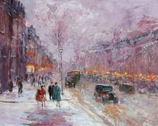 Slobodan Paunovic; On Boulevard 1930 Y, 2010, Original Painting Oil, 40 x 50 inches. Artwork description: 241 Original workBuying directly from the autorFree shipping...