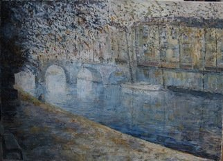Slobodan Paunovic; Avec Seine Pont Neuf Paris, 2017, Original Painting Acrylic, 28 x 20 inches. Artwork description: 241 OriginalI was inspired by that nice motif in liveI hope that the viewers will feel that...