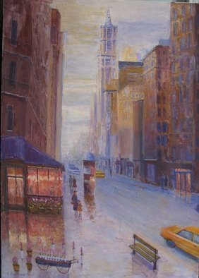 Slobodan Paunovic; On Broadway Nyc, 2017, Original Painting Acrylic, 20 x 28 inches. Artwork description: 241 OriginalI was inspired by that motif as an my expirienceI hope that the viewers will feel that...