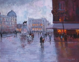 Slobodan Paunovic; On Square 1930 Y, 2017, Original Painting Oil, 20 x 16 inches. Artwork description: 241 OriginalI was inspired by past timeI hope that the viewers will feel that...