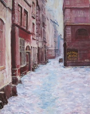 Slobodan Paunovic; Rue De Marmousets Paris 1865, 2017, Original Painting Acrylic, 16 x 20 inches. Artwork description: 241 OriginalI was inspired by past timeI hope that the viewers will feel that...
