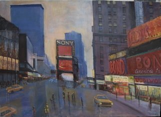 Slobodan Paunovic; Time Square 80 S, 2017, Original Painting Acrylic, 28 x 20 inches. Artwork description: 241 OriginalI was inspired by past timeI hope that the viewers will feel that...