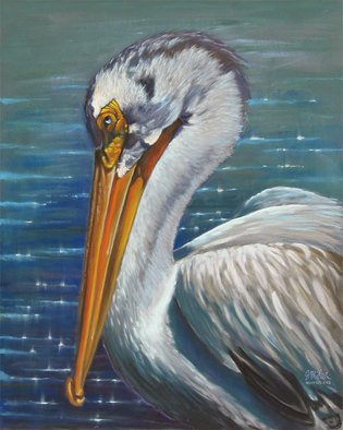 Steve Miller; Design With Purpose, 2009, Original Pastel, 16 x 20 inches. Artwork description: 241     Pelican waterfowl pastels  ...