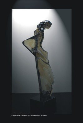 Rastislav Kralik; Dancing Queen, 2011, Original Sculpture Glass, 23 x 63 cm. Artwork description: 241  Glass sculpture by Rastislav Kralik, Mold melting glass, cut and polished ...