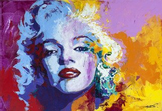 Rastislav Kralik; Marilyn Monroe, 2017, Original Painting Acrylic, 160 x 110 cm. Artwork description: 241 Marilyn Monroe by Rastislav Kralik, acrylic on canvas, ready to hang...