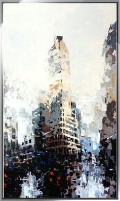 Rastislav Kralik; New York City Flat Iron, 2017, Original Painting Acrylic, 90 x 150 cm. Artwork description: 241 New York City Flat Iron, orihinal Art painting knife...