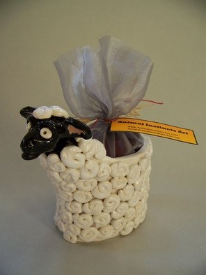 Suzanne Noll; Ceramic Sheep Potpourri V..., 2011, Original Sculpture Mixed, 4.5 x 7.5 inches. Artwork description: 241         This ceramic Sheep potpourri vase comes with a bag of Apple Cider Potpourri to be both a great decorative piece as well as filling your home with pleasant fragrances. Some believe the symbolism of sheep is that of great wealth both spiritually and financially. In this economy, ...